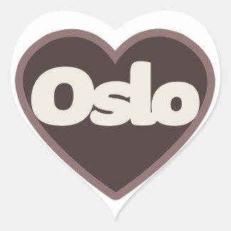 Oslo love heart sticker