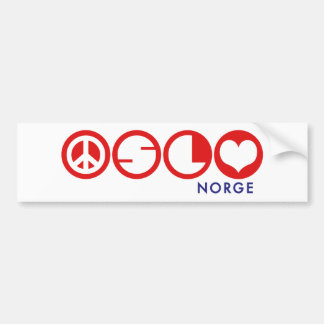 Oslo Norge Bumper Sticker