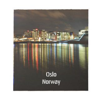 Oslo, Norway at night Notepad