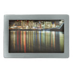 Oslo, Norway at night Rectangular Belt Buckle