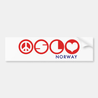 Oslo Norway Car Bumper Sticker