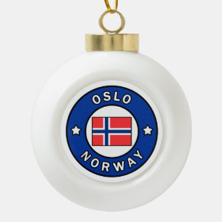 Oslo Norway Ceramic Ball Christmas Ornament