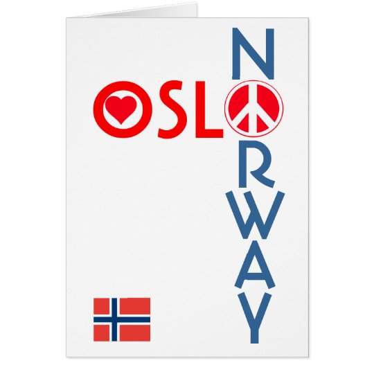 Oslo Norway Love Peace Greeting Card 1