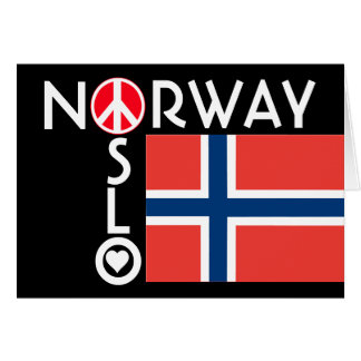 Oslo Norway Love Peace Note Card 2