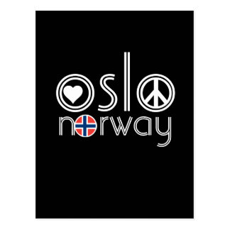 Oslo Norway Love Peace Postcard 1
