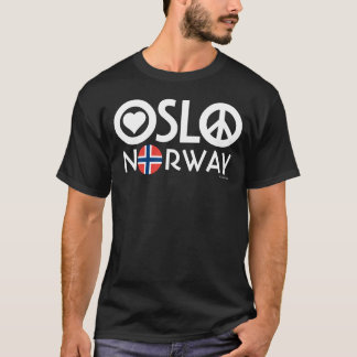 Oslo Norway Love Peace T-Shirt 1