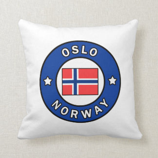 Oslo Norway Throw Pillow