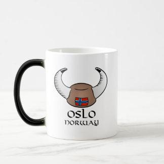 Oslo Norway Viking Hat Magic Mug
