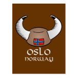 Oslo Norway Viking Hat Post Cards