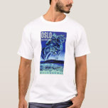 Oslo Norway Vintage Travel Poster Restored T-Shirt