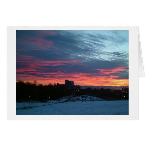 oslo Sunset Greeting Card