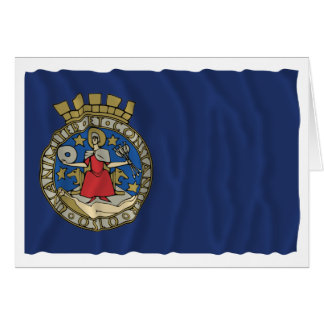 Oslo waving flag card