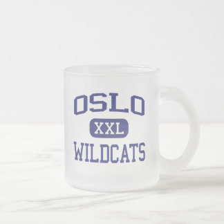 Oslo Wildcats Middle Vero Beach Florida Frosted Glass Coffee Mug