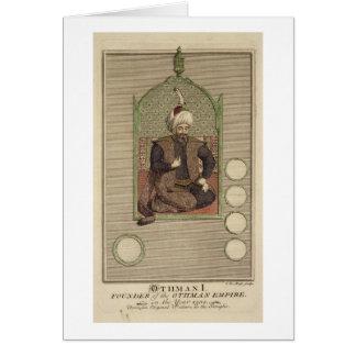 Osman I (1259-1326) founder of the Ottoman Empire Card