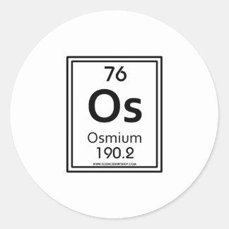 Osmio 76 etiqueta redonda