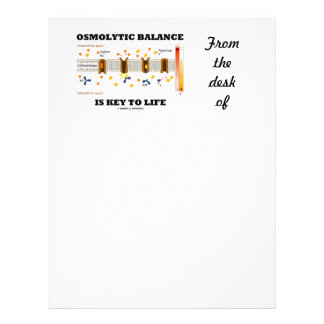 Osmolytic Balance Is Key To Life (Na-K Pump) Custom Letterhead