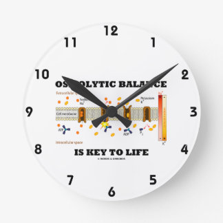 Osmolytic Balance Is Key To Life (Na-K Pump) Round Clock
