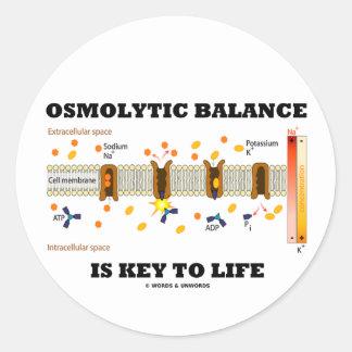 Osmolytic Balance Is Key To Life (Na-K Pump) Classic Round Sticker