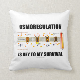 Osmoregulation Is Key To My Survival Throw Pillow
