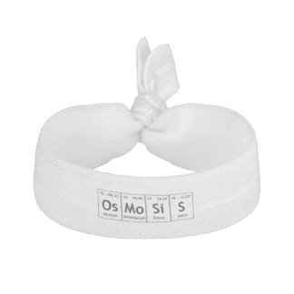 OsMoSiS Periodic Table Elements Word Chemistry Hair Tie