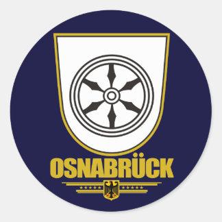 Osnabrück Pegatina Redonda