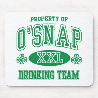 O'Snap Irish Drinking Team Mouse Pad