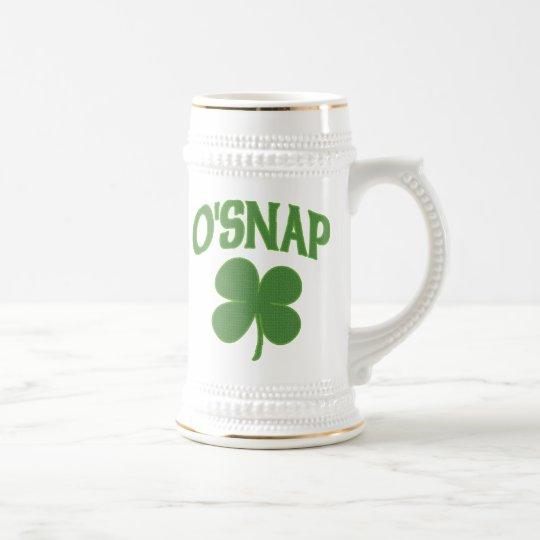 O'Snap irish Shamrock Beer Stein