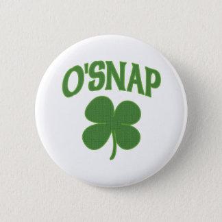 O'Snap irish Shamrock Button