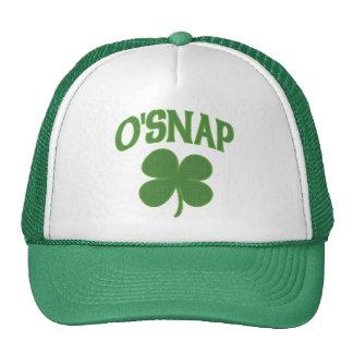O'Snap irish Shamrock Trucker Hat
