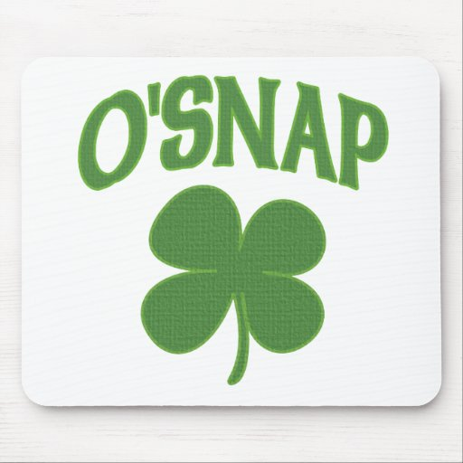 O'Snap irish Shamrock Mouse Mat
