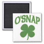 O'Snap irish Shamrock Refrigerator Magnet