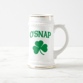 O'Snap Shamrock Beer Stein