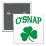 O'Snap Shamrock Button