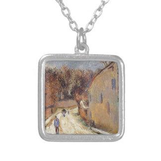 Osny, ruda de Pontoise, invierno de Paul Gauguin Colgante Cuadrado