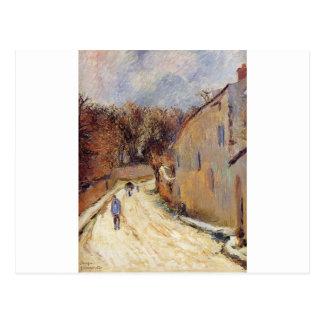 Osny, rue de Pontoise, Winter by Paul Gauguin Postcard