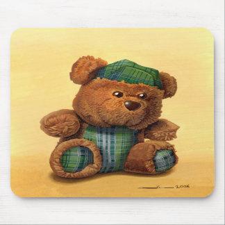 oso a las prendas de vestir escocesas tapetes de ratón