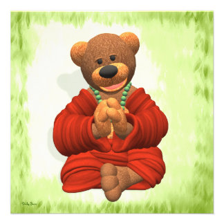 Oso agradecido de Buda Invitacion Personal