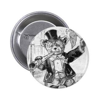 Oso alegre Jerry - letra J - oso de peluche del vi Pins