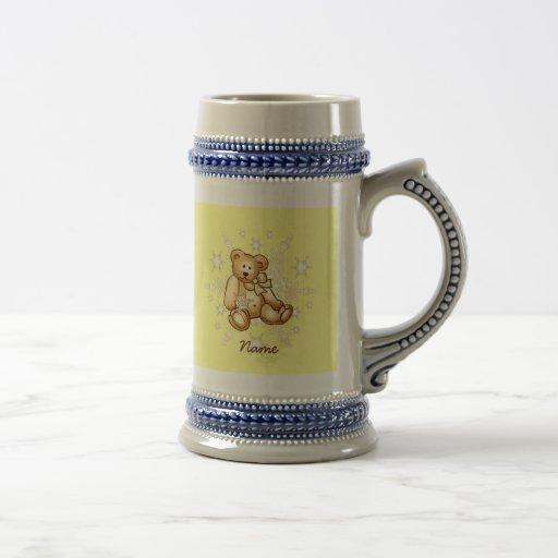 Oso amarillo del bebé tazas de café