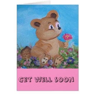 oso azul tarjeta de felicitación