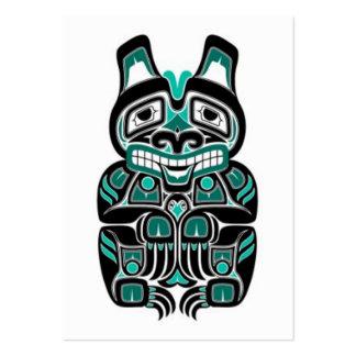 Oso azul y negro del trullo del Haida del alcohol Plantillas De Tarjetas De Visita
