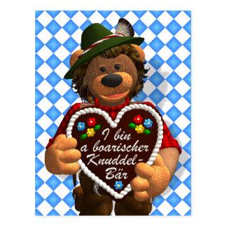 Oso bávaro de la abrazo de los osos pequeños tarjeta postal
