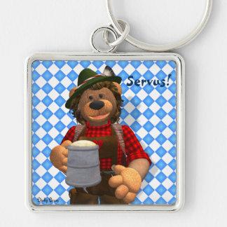 Oso bávaro de Oktoberfest de los osos pequeños Llavero Personalizado