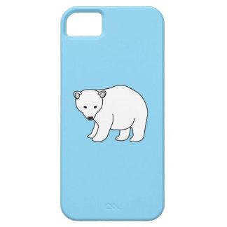 oso blanco pequeño, dulce, funda para iPhone SE/5/5s