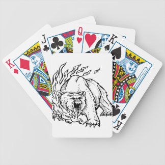 Oso blanco y negro baraja cartas de poker