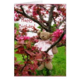 ¡Oso Blossums feliz cumpleaños Felicitación