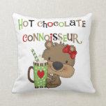 Oso caliente del chica de ChocolateConoisseur Cojin