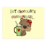 Oso caliente del chica de ChocolateConoisseur Postal