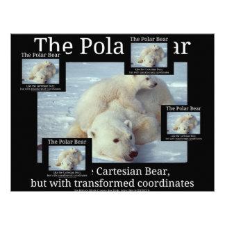 Oso cartesiano del oso polar plantilla de membrete