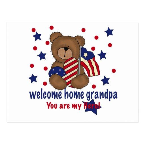 Oso casero agradable del abuelo tarjeta postal